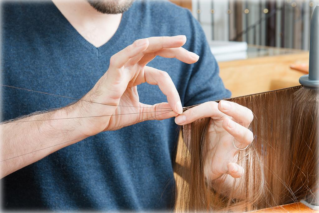 © Le travail du cheveu Salon Delobel