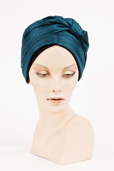 Turban bleu turquoise