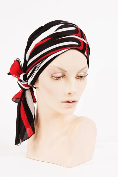 Exemple de turban en vente dans notre Salon Paris 8ème