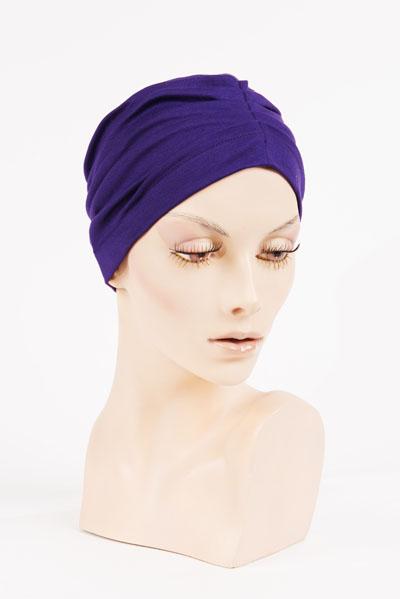Bonnet Mauve - disponible à l'Atelier des Arts Capillaires